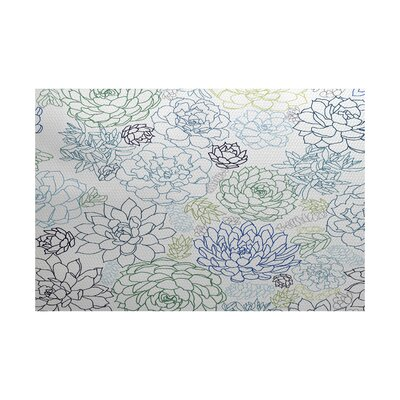 Neville Blue Indoor/Outdoor Area Rug Rug Size: 5 x 7