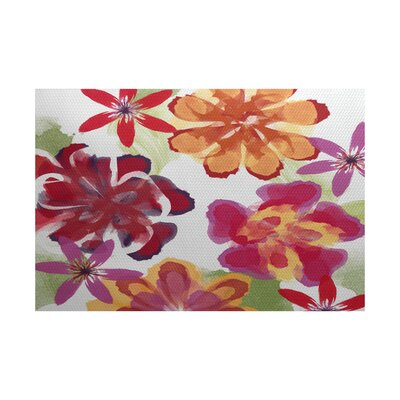 Neville Red Indoor/Outdoor Area Rug Rug Size: 5 x 7