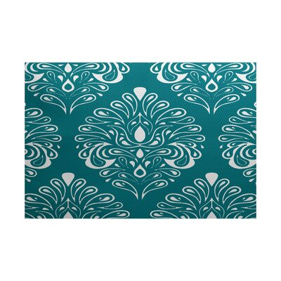 Harmen Teal Indoor/Outdoor Area Rug Rug Size: Rectangle 2 x 3