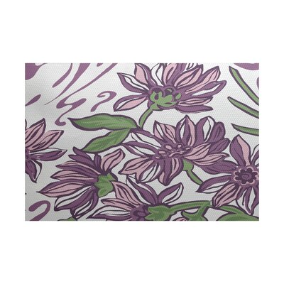 Neville Purple Indoor/Outdoor Area Rug Rug Size: 5 x 7