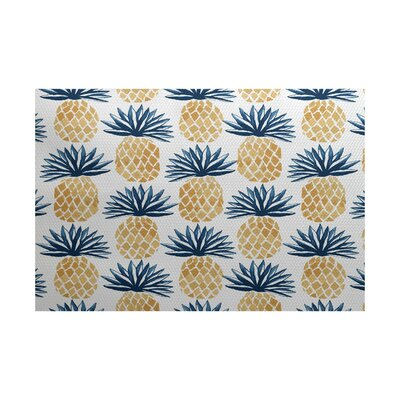 Costigan Blue Indoor/Outdoor Area Rug Rug Size: 2 x 3