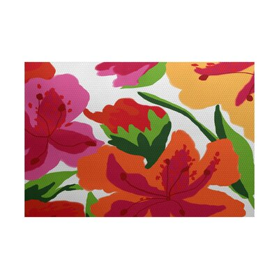 Westcliff Pink Indoor/Outdoor Area Rug Rug Size: 5 x 7