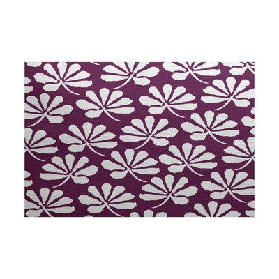 Allen Park Purple Indoor/Outdoor Area Rug Rug Size: 2' x 3'