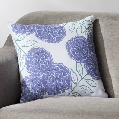 Mums the Word Floral Throw Pillow Size: 18