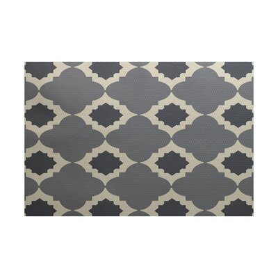 McGuinness Geometric Print Gray Indoor/Outdoor Area Rug Rug Size: Rectangle 2 x 3