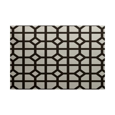 Beane Geometric Print Dark Brown Indoor/Outdoor Area Rug Rug Size: 3 x 5
