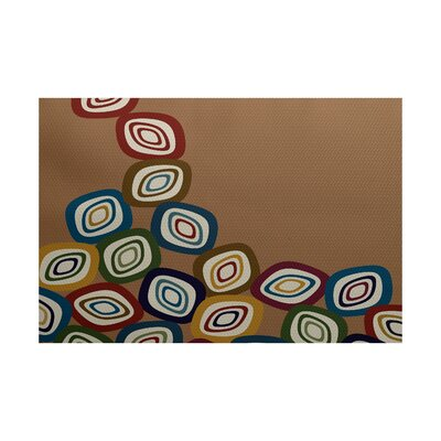 Cotner Falling Leaves Geometric Print Brown Indoor/Outdoor Area Rug Rug Size: 4 x 6