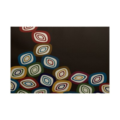 Cotner Falling Leaves Geometric Print Brown Indoor/Outdoor Area Rug Rug Size: 3 x 5