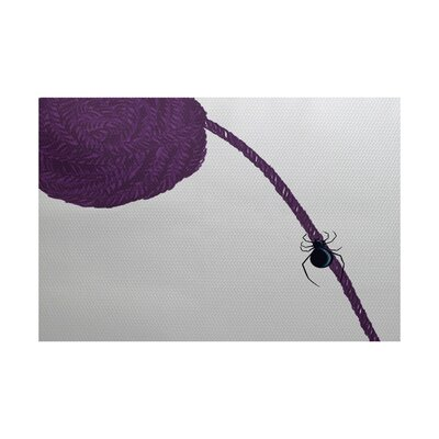 Spider Holiday Print Purple Indoor/Outdoor Area Rug Rug Size: 3 x 5