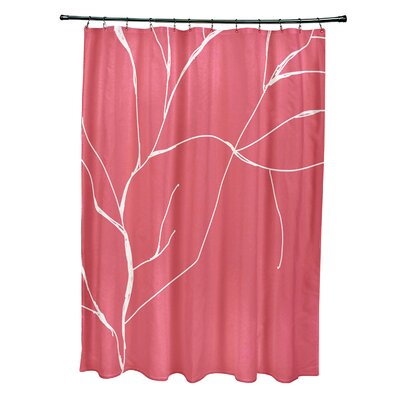 Floral Shower Curtain Color: Coral
