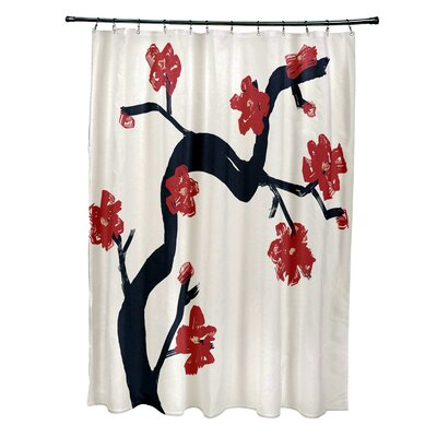 Floral Shower Curtain Color: Dragon