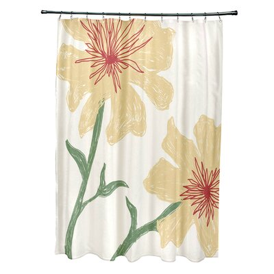 Floral Shower Curtain Color: Emperor / Dragon