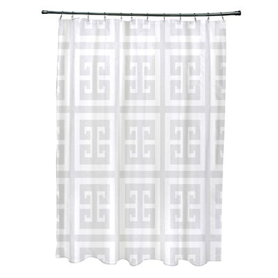 Geometric Shower Curtain Color: Paloma
