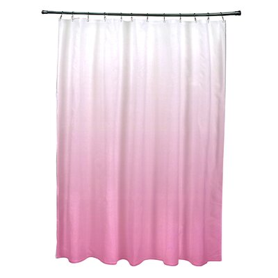 Ombre Shower Curtain Color: Peacock