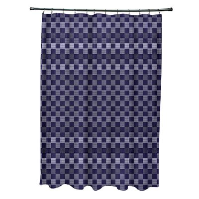 Geometric Shower Curtain Color: Spring Navy