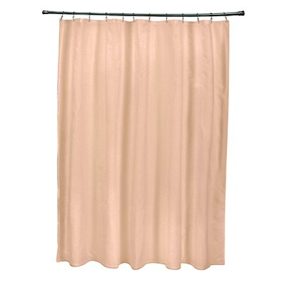 Solid Shower Curtain Color: Peach