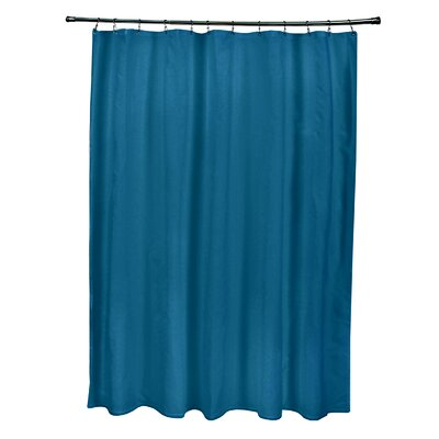 Solid Shower Curtain Color: Teal