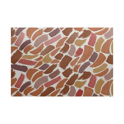 Bueche Abstract Orange Area Rug Rug Size: 5 x 7