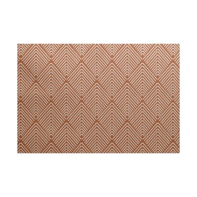 Waller Geometric Orange Area Rug Rug Size: 4 x 6