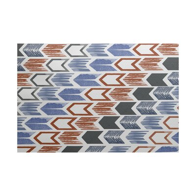 Waller Geometric Gray/Blue Area Rug Rug Size: 5 x 7