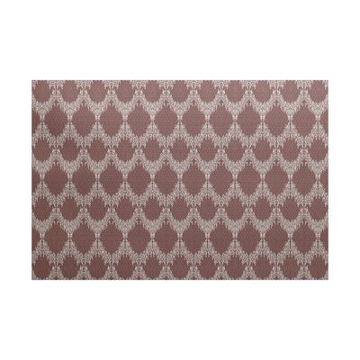 Arlo Flat Woven Geometric Maroon Area Rug Rug Size: Rectangle 3 x 5