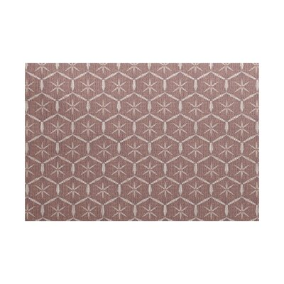 Arlo Geometric Maroon Area Rug Rug Size: Rectangle 2 x 3