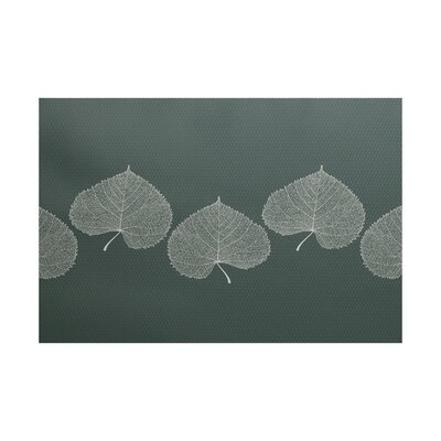 Leatham Leaf 2 Floral Green Area Rug Rug Size: Rectangle 2 x 3