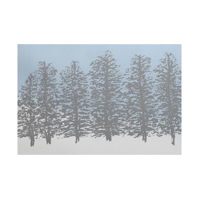 Joulon Hidden Forest Gray/Blue Indoor/Outdoor Area Rug Rug Size: 4 x 6