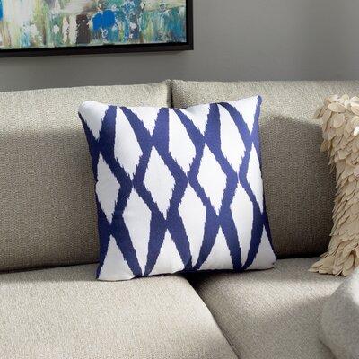 Geometric Decorative Outdoor Pillow Color: Dazzling Blue, Size: 20 H x 20 W x 1 D