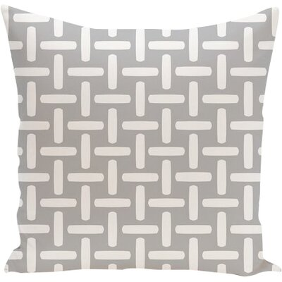 Geometric Down Throw Pillow Size: 16