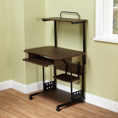 Mobile Computer Tower Desk with Storage 50163ESP