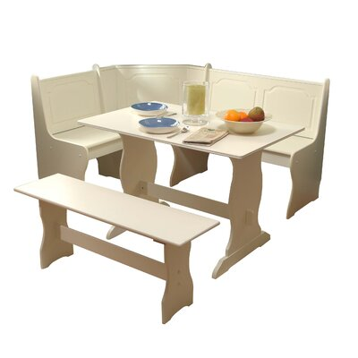 Nook 3 Piece Dining Set Finish: Antique White