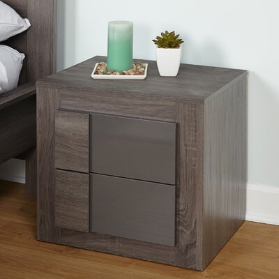 Eden 2 Drawer Nightstand