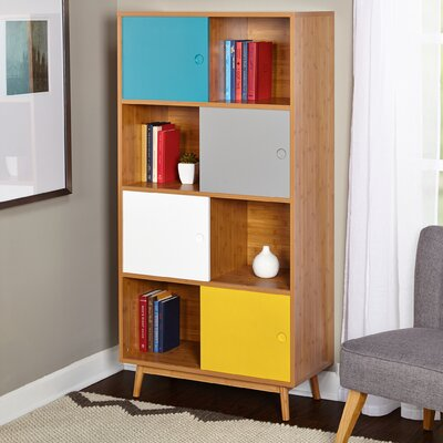 Parker 56.8 Bookcase with Sliding Doors Product Photo 453