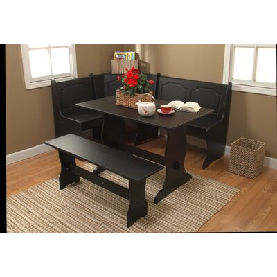 TMS Nook 3 Piece Dining Set in Black (TXR1113)