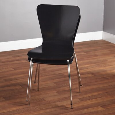 Batheaston Solid Wood Dining Chair Color: Black