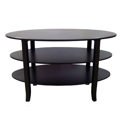 London 3 Tier Coffee Table Color: Black
