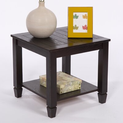 Cheap TMS Zenith End Table in Espresso (TXR1163)