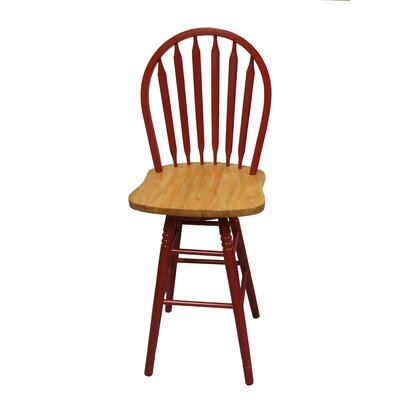 30 Arrowback Stool Finish: Red