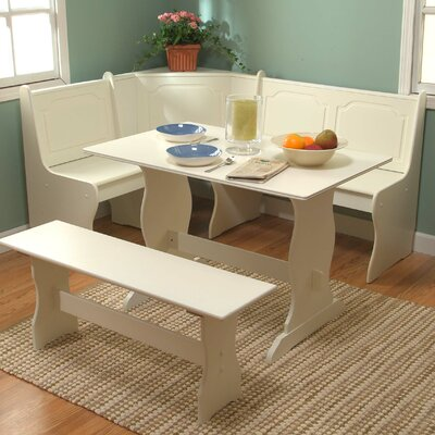 Cheap TMS Nook Three Piece Dining Set in Antique White (TXR1212)