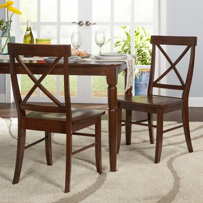 Brookwood Solid Wood Side Chair Color: Brown