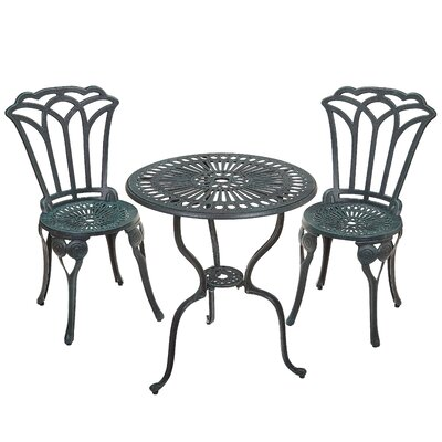 Haverstraw 3 Piece Bistro Set