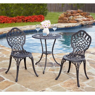 Hempstead 3 Piece Bistro Set