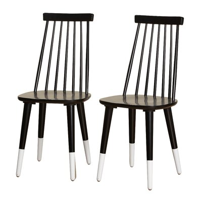 Angelo Home Hermosa Dining Chair Color: Black/White