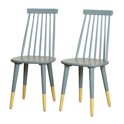 Angelo Home Hermosa Dining Chair Color: Blue/Yellow