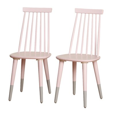 Angelo Home Hermosa Dining Chair Color: Pink/Gray
