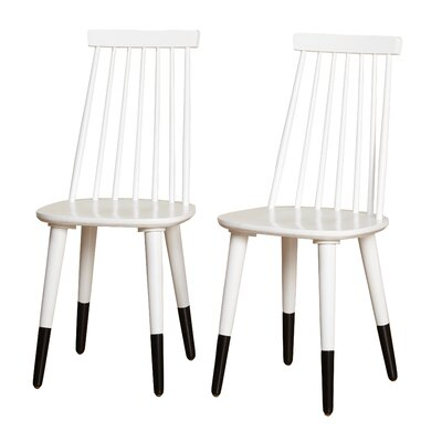 Angelo Home Hermosa Dining Chair Color: White/Black