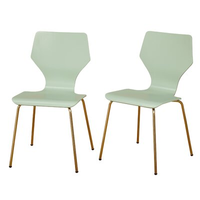 Angelo Home Enna Dining Chair Color: Mint/Gold