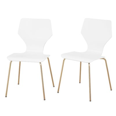 Angelo Home Enna Dining Chair Color: White/Gold
