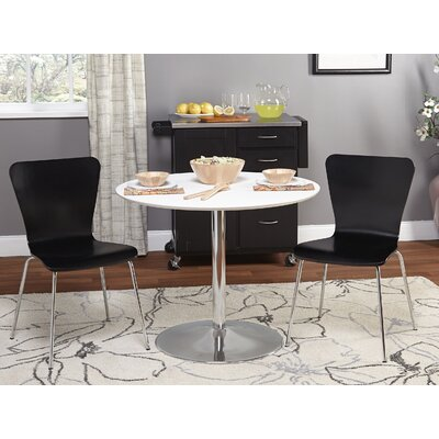 Theotis 3 Piece Dining Set Chair Color: Black